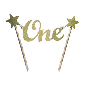 Unique Glitter Star One 1st Happy Birthday Cake Topper Bunting Banner Decorating Party