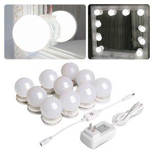 Hollywood Style Led Vanity Trucco Specchio Specchio Kit con 10 lampadine dimmerabili Striscia di apparecchio per il trucco Dressing da tavolo vanità