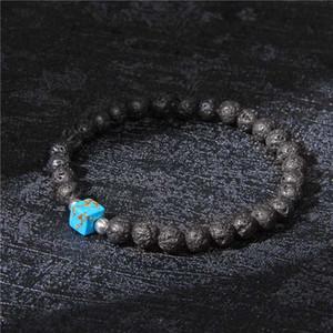 Gioielli alla moda imperiali Jaspers Beads Charm Bracelet Uomini Lava Stone Beads Chakra Bracciale vulcanica nera di Donne Male Gifts