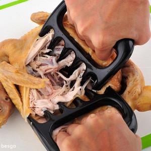 Black Meat Claws Kunststoff Fleischgabeln Grillfleisch Shredder Claws Huhn Separator Easy Clean Verwenden Barbecue Kitchen Tools Bärentatzen BH2742 DBC