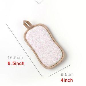 Almofadas de limpeza dupla face reutilizável esponja mágica limpeza de pano cozinha limpeza ferramentas escova wipe pad decontaminação prato toalhas gwb3699
