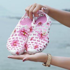 Классический скольжению на Садовом Clog Обувь Мужчины Быстрой Сушки Летнего пляж башмачок Hollow флип-флоп Открытых сандалий женщин морозной обуви