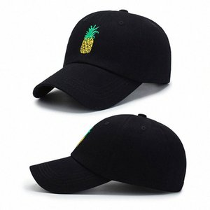 Hot 2019 boné de beisebol na moda único Produto Abacaxi bordado engraçado Fresh Fruit Hipster Hat Pineapple Dad Hat Baseball Cap qZm6 #