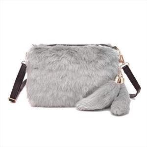 Soft Warm Fur Bag Shoulder Bag Female Leopard Female Bag Large Plush Winter Handbag Winter Messenger Fashion