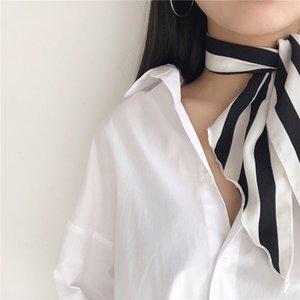 &Dolphin Women Neckchief Scarf 84*33cm Triangular Bandage Wavy Pink Love Strip Chiffon Silk Scarves Headbands Women's Tie
