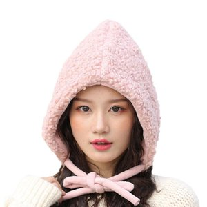 High Quality Brand Ski Beanie lambswool Parent-Child Ball Cap Pompom Winter Hat For Women Girls Warm Knitted Scarf Hat