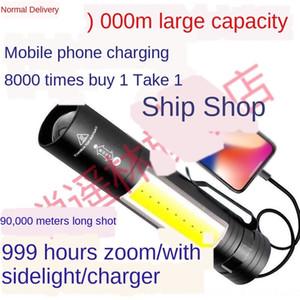 LED güçlü el feneri şarj edilebilir uzun aralık ultra parlak ev taşınabilir çok fonksiyonlu şarj hazine Fener şarj Treasur