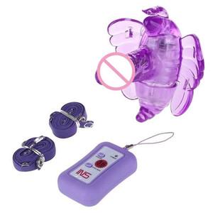 На контрольных ремнях беспроводной вибрационный дистанционный пульт дистанционного управления D вибраторы 36 Butterfly Dildo Speed Panties G Spot Vibrator Remote Y200422 JHMLJ