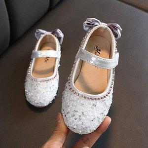 Klasik Yeni Sıcak Çocuklar Deri Ayakkabı Çocuk Kız Prenses İlkbahar Sonbahar Chaussure Enfants Sandalet Parti Pullarda Dance Shoes