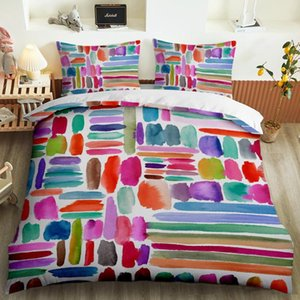 2020 new fashion ink style bedding 2   3 piece set with classic wood pattern simple cover quilt cover and pillow case