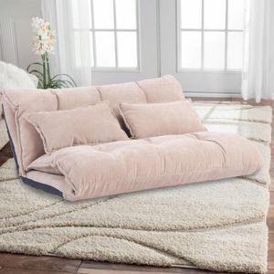 Oris fourrure. Canapé-lit moderne de loisirs moderne moderne réglable avec deux oreillers WF008064DAA