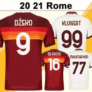 20 21 Dzeko Erkek Futbol Formalar Yeni Roma Kolarov PEROTTI Ev Kırmızı Deplasman Beyaz 3 Futbol Gömlek Manolas Kısa Kollu Yetişkin Üniformalar
