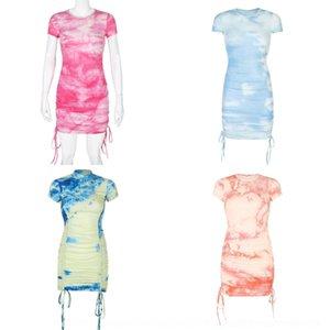yzZXK Fashion Dress slim-fit nuovo YSzsM gonna pit vestito cravatta tinta estate ricevuto striscia sottile a pieghe One-Step hip-avvolto one-step skirt