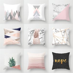 PinkThrow Pillow Case Pineapple Mable Flora Cushion Covers for Home Sofa Chair Decorative Pillowcases Set
