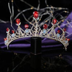 Crown HADIYANA Classical Tiara Women Wedding Bride Hair Accessories Rhinestone Luxury Hair Jewelry BCY8923 Couronne De Mariage