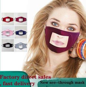 se laver les lèvres FAST DHL MASQUES Visière facemasks MASCARILLA see-through masque, masque anti-poussière, enfant adulte masque coton sourd-muet masques transparents