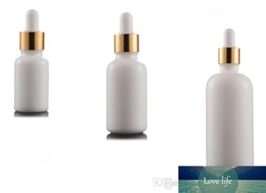 High Quality Round Shape White Porcelain Cosmetic Packaging Serum Glass Bottle with Dropper 10ML 15ML 20ML 30ML 50ML 100ML