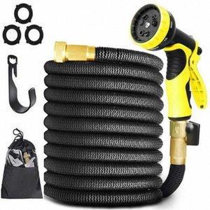 25FT-150FT Plastic Hoses Pipe With Spray Gun Garden Hose Expandable Magic Flexible Water Hose EU To Watering Car Wash Spray gaRC#