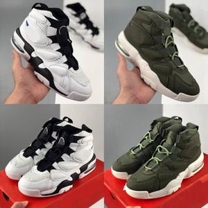 Daha Tasarımcı Uptempo 94 QS Erkek Basketbol Ayakkabı Scottie Pippen Üçlü Yeşil Siyah Beyaz Eğitmenler Spor Spor ayakkabılar Sepetleri des chaussures
