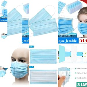 100/50 / 30шт лица Descartável Antipoeira De Proteção Pessoal 3ply Ear Loop LIYZU EC7M
