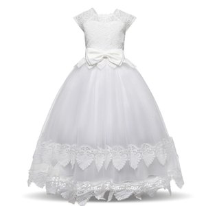 Clearance New Summer Mesh Toddler Baby Girls Bowknot Princess Formal Wedding Party Sleeveless nylon lace Dress