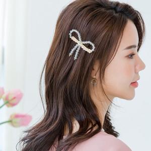 toptan Bow Duckbill Saç Klipler Klasik Boncuk Firkete Tokalarım Kadınlar Kız Lady Saç Bow Aksesuarları saç tokaları Şapkalar Clip için