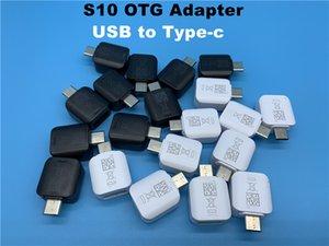 DHL 100pcs / lot S10 de haute qualité Connecteur USB OTG adaptateur USB à type c pour Samsung Galaxy S10 plus S9 s8 S8 plus