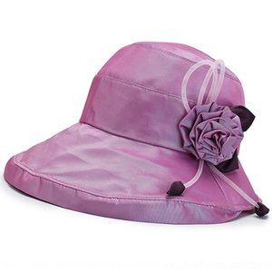 Toque mode coréenne femmes pliage chapeau seau seau soleil milieu crème solaire d'été femmes âgées cool chapeau crème solaire UmGiK