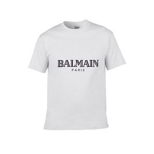 Vrai concepteur mens BALMAIN T-shirts T blanc rouge noir bleu d'été luxe Vêtements Hommes Mode T-shirt RELIGIONING Homme T-shirts 100% coton