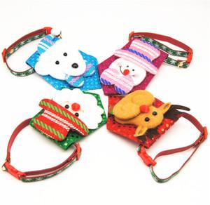 Горячий мультфильм домашний воротник о воротничке собаки воротник аксессуары снеговика лось рождественские ошейники собаки зоомагазин рождественские украшения DB008