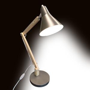 2020 Novo Produto dobrável único flexível de madeira Pole NO / OFF Lâmpada de mesa Lâmpada moderna Decore Estudo Tabela do escritório