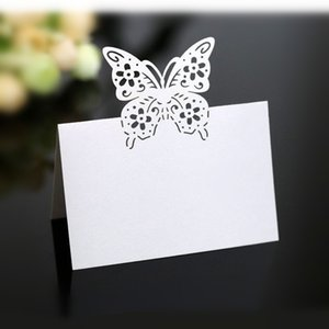 Wedding Stereo Love Seat Card Laser Hollow Butterfly Flower Table Card Table Name Sign In Wedding Decoration 6Z