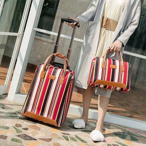 مصمم للمرأة المتداول حقيبة الأمتعة، أكسفورد القماش حقيبة السفر مع حقيبة يد، حالة العربة، صندوق العجلة، محمولة على ترحيل، Dragbox السيارات