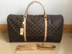 Yüksek kaliteli erkekler kadınlar Keepall 60cm Deri Çanta bagaj seyahat çantası klasik omuz çantaları çanta çanta H41411 taşımak