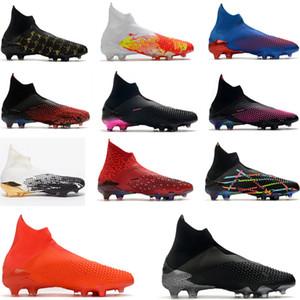 ADIDAS Predator sin cordones 19+ niños Niños Jóvenes Niños Botas de fútbol Botas Dark Script Input Code zapatos de fútbol High Top chuteiras de futebol