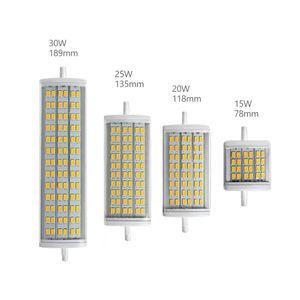 R7S LED luce 78 millimetri 118 millimetri 135 millimetri 189 millimetri mobilia doppia estremità tungsteno lampada alogena SMD 5730 15W 20W 25W 30W