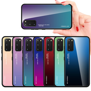 Gradienten aus gehärtetem Glas Phone Case Soft Edge für Iphone 12 11 Pro Max X XS XR SE 2020 SE2 6 6S 7 8 PLUS Xiaomi POCO X3 NFC-Abdeckung Be Yourself