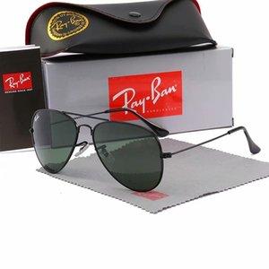 2020 Ray Marke polarisierte Sonnenbrille Männer / Frauen Pilot Sonnenbrille UV400 Brillen AviatorVerbotFahrer Bans Metallrahmen Polaroid-Objektiv