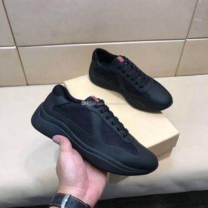 Schwarz-Leder-Sneakers-Entwurfs-Schuhe Chaussures Outdoor-Schuhe Top Mode Freizeitschuhe Luxe Hommes de haute qualité Turnschuhe