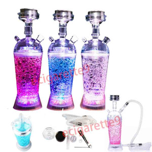 hookah Glass Bong Acrylic Hookah Shisha Cup Set with LED Light Shisha Pipe Shisha Accessories Chicha Narguile Accessories Shape Glass Hookah