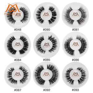 100% Mink Lashes 3D Eyelashes Natural Long Invisible Thin False Eyelashes Curl Soft Fake Lashes Extensions With Circle Box