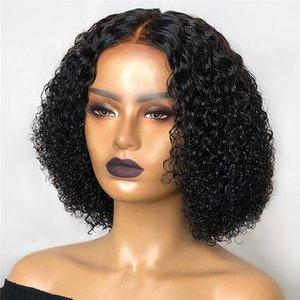Big Tree Hair Company Indian Remy Cheveux Human Coiffures de la dentelle Perruque 150% Densité Courte Curly 4 * 4 Perruque de fermeture en dentelle