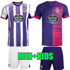 camisas de futebol Tailândia Real Valladolid 20 21 FEDE S. Sergi Guardiola Óscar Plano Camisetas de fútbol 2020 2021 homens miúdos do futebol t-shirts