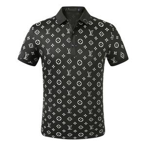 Mens конструктора Поло Футболки Мужские поло Лето Polos рубашки вышивки Polos футболки High Street Trend Shirt