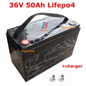 impermeável bateria de 36V 50AH Lifepo4 com BMS 12S para 1000W 1500W scooter de bicicleta Triciclo Solar energia de backup backup + carregador 5A