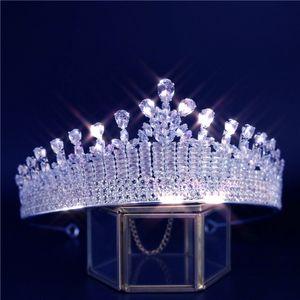 Crown Romance Elegant Women Wedding Bridal Hair Accessories Cubic Zirconia Luxury Jewelry Party Banquet Couronne De Mariage