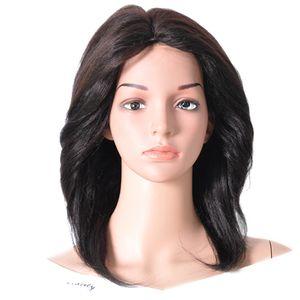 IWEAR free shipping factory wholesale brazilian virgin cuticle aligned human hair machine made non lace wigs for black woman