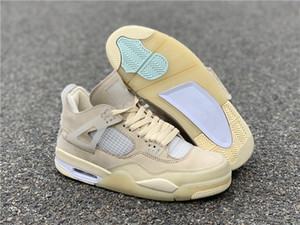 New release Top quality mens basketball shoes 4 high Sneakers Sail Mens Shoes quality sneakers shoes fashion CT8480-001size 7.5-13 With Box