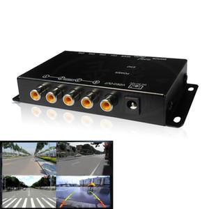 Control IR 4 Cámaras de vídeo Cámaras de coches de control del interruptor imagen combinador Caja de Vista izquierda Vista derecha cuadro delantero del estacionamiento de la cámara