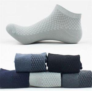 Mens calze sportive Lunghezza Plaid Calzini Primavera Designer Men Calzino Pantofole sport respirabili Stretch Solido Colore